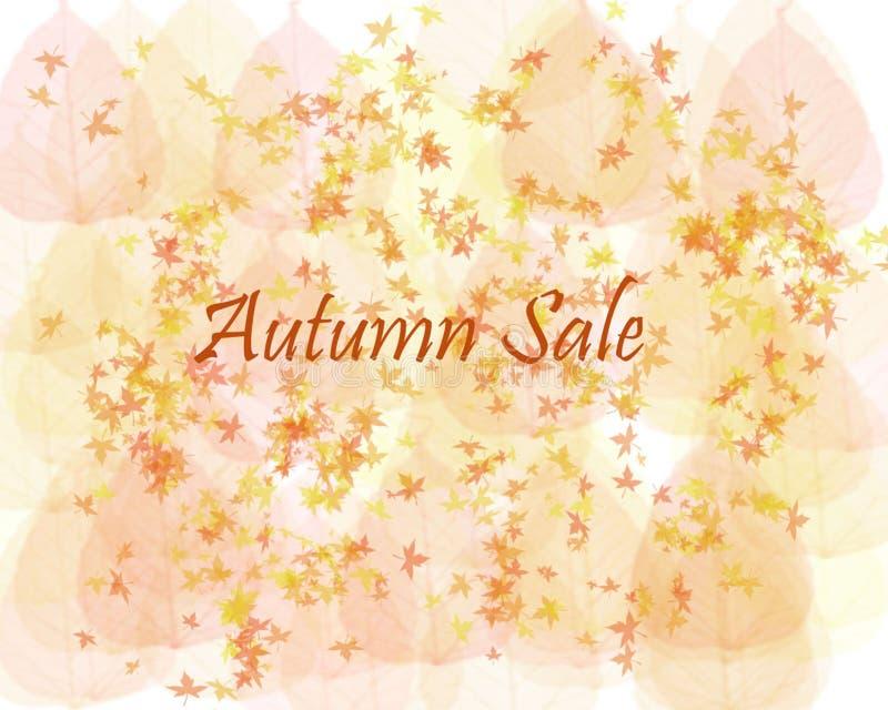 Autumn Sale Background photo stock
