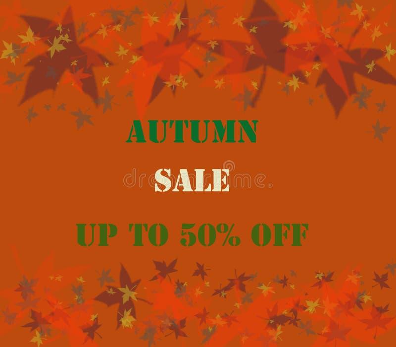 Autumn Sale Background photos libres de droits