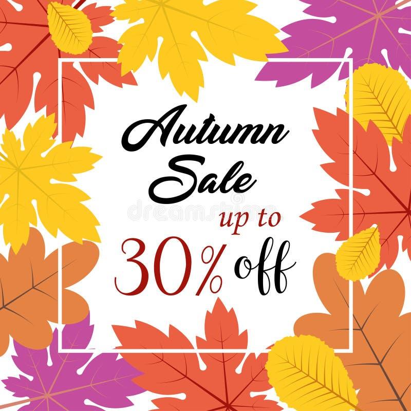 Autumn Sale Background ilustração royalty free