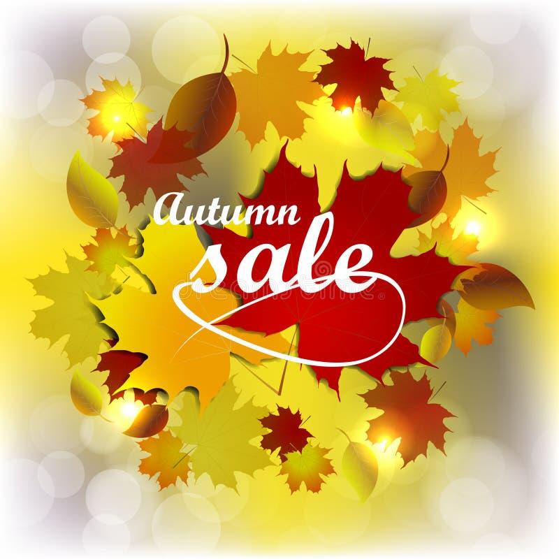 Autumn Sale Background ilustración del vector