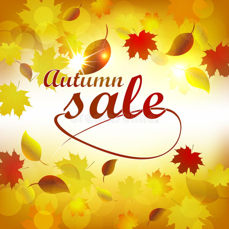 Autumn Sale Background libre illustration