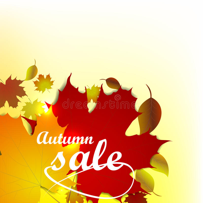 Autumn Sale Background ilustración del vector