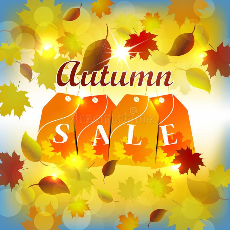Autumn Sale Background stock de ilustración
