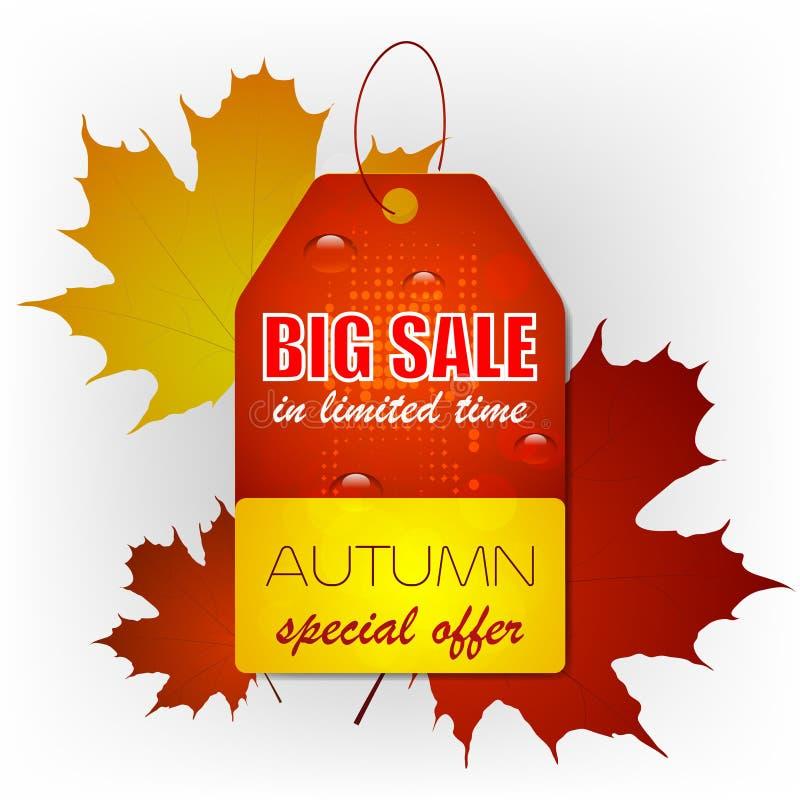 Autumn Sale Background stock de ilustración