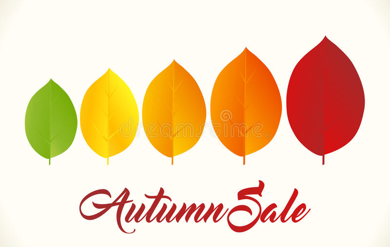 Autumn Sale Background ilustração do vetor