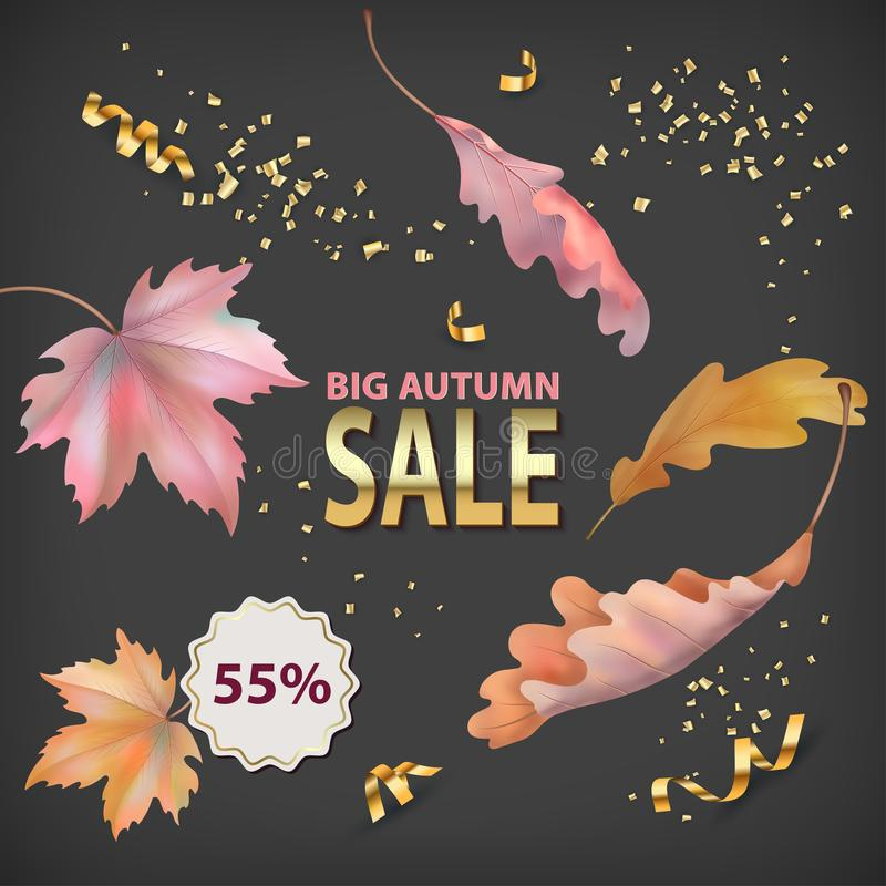 Autumn Sale Background vektor abbildung
