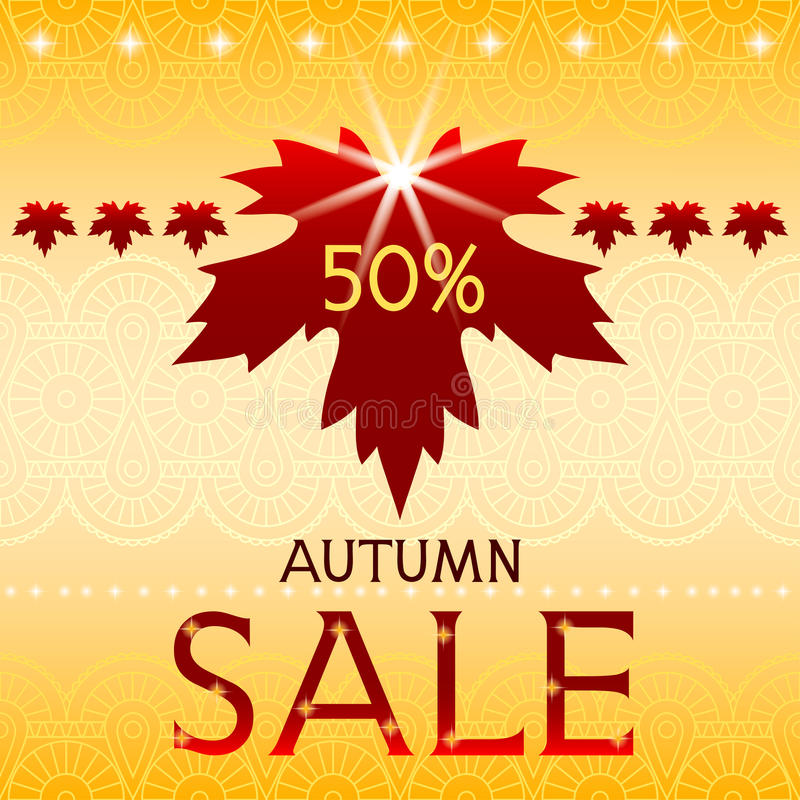 Download Autumn Sale Background With Maple Leaf. Stock Vector - Image: 33378073