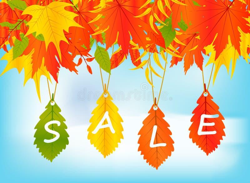Autumn Sale Background royaltyfri illustrationer