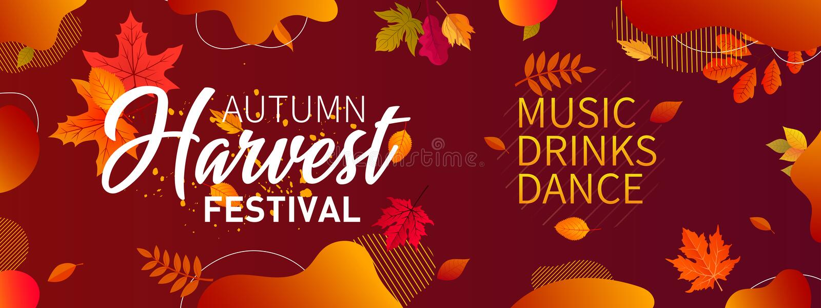Autumn sale banner background with fall leaves Vector. Autumn Fall Season Sale Ad Banner With Colorful fall leaves and advertising discount text Vector vector illustration