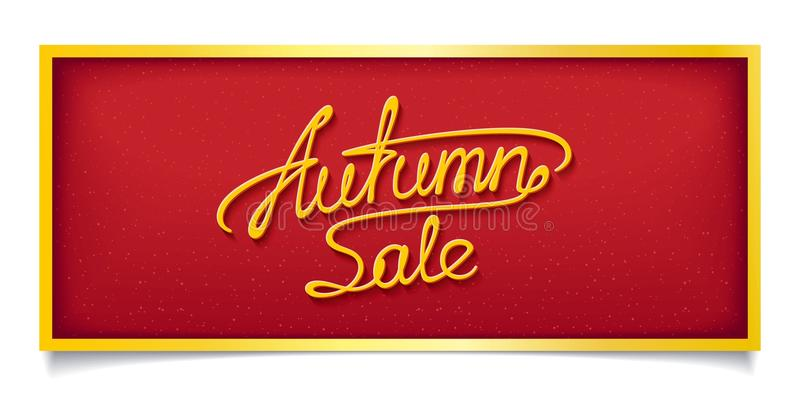 Autumn sale banner stock photography