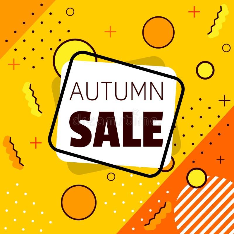 Autumn Sale banner. Shapes. vector illustration