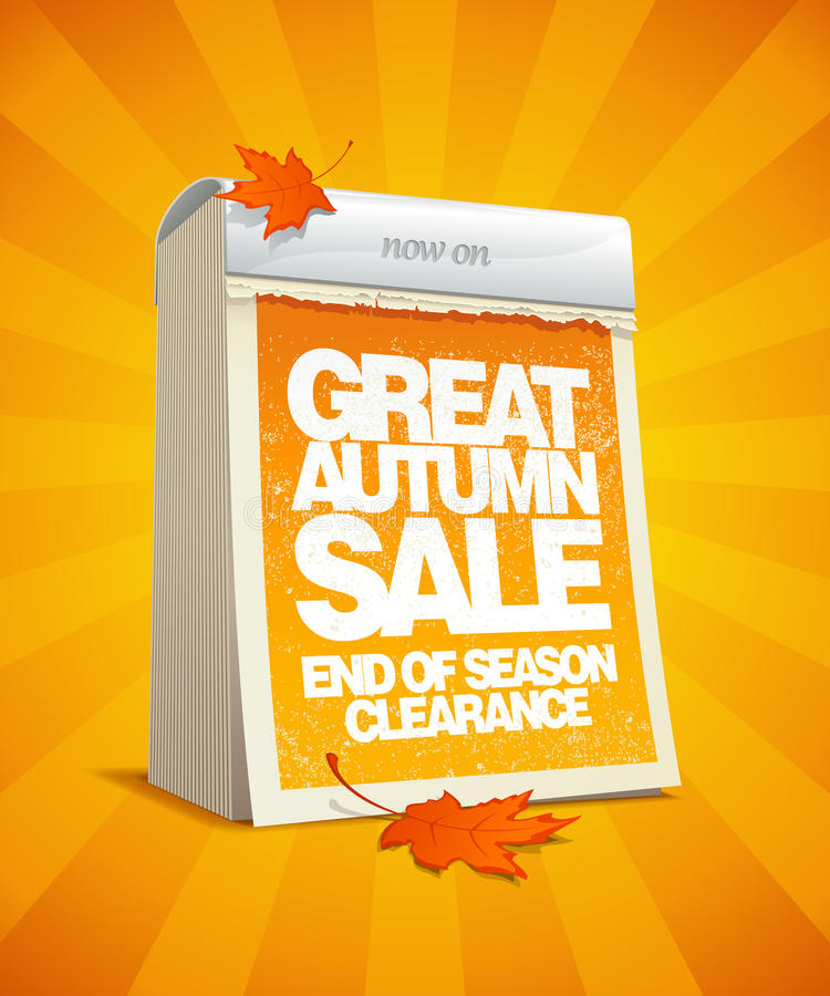 Autumn Sale Design In Form Of Calendar. Royalty Free Stock Image