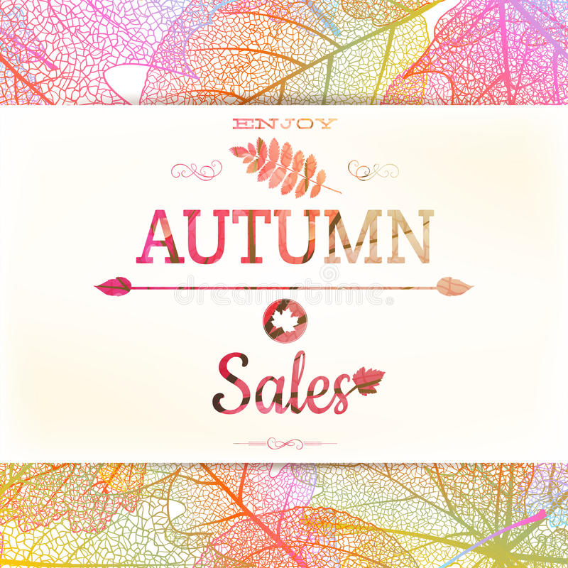 Free Autumn Sale - Fall Leaves. EPS 10 Royalty Free Stock Image - 57161766