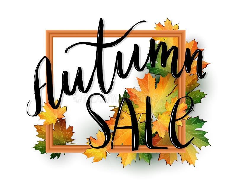 Autumn SALE poster design stock photography