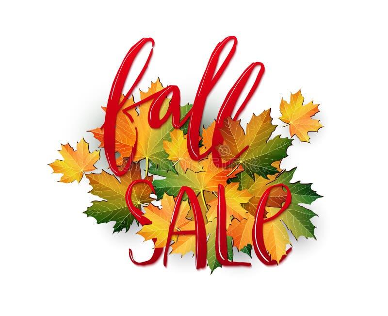 Autumn SALE poster design stock images