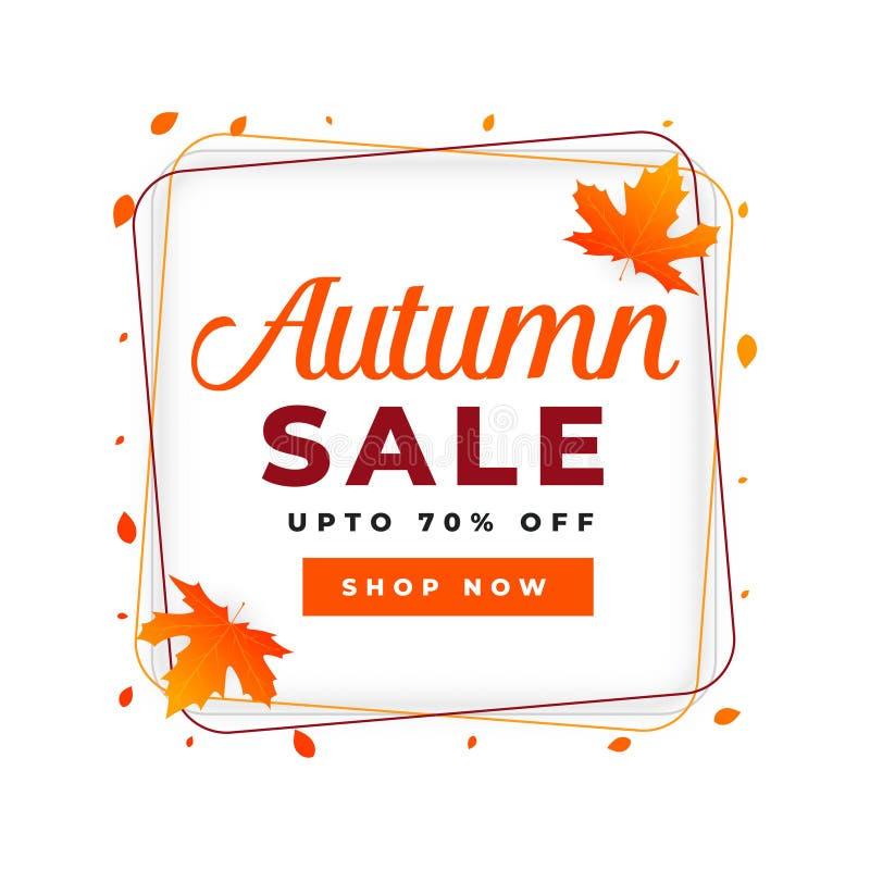 Autumn Sale Poster Design Template ilustração royalty free