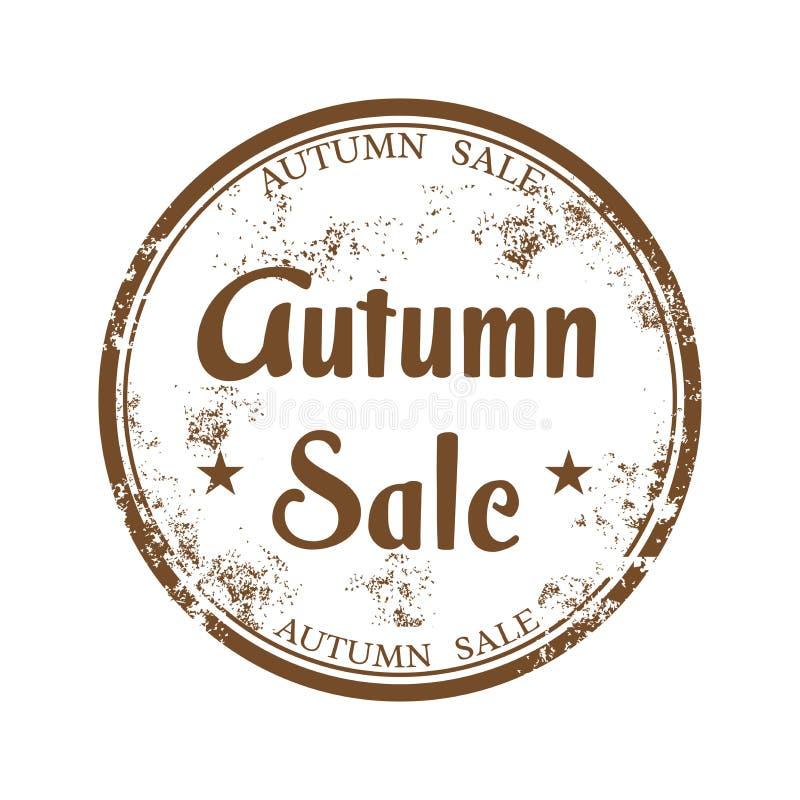 Autumn sale rubber stamp stock photo