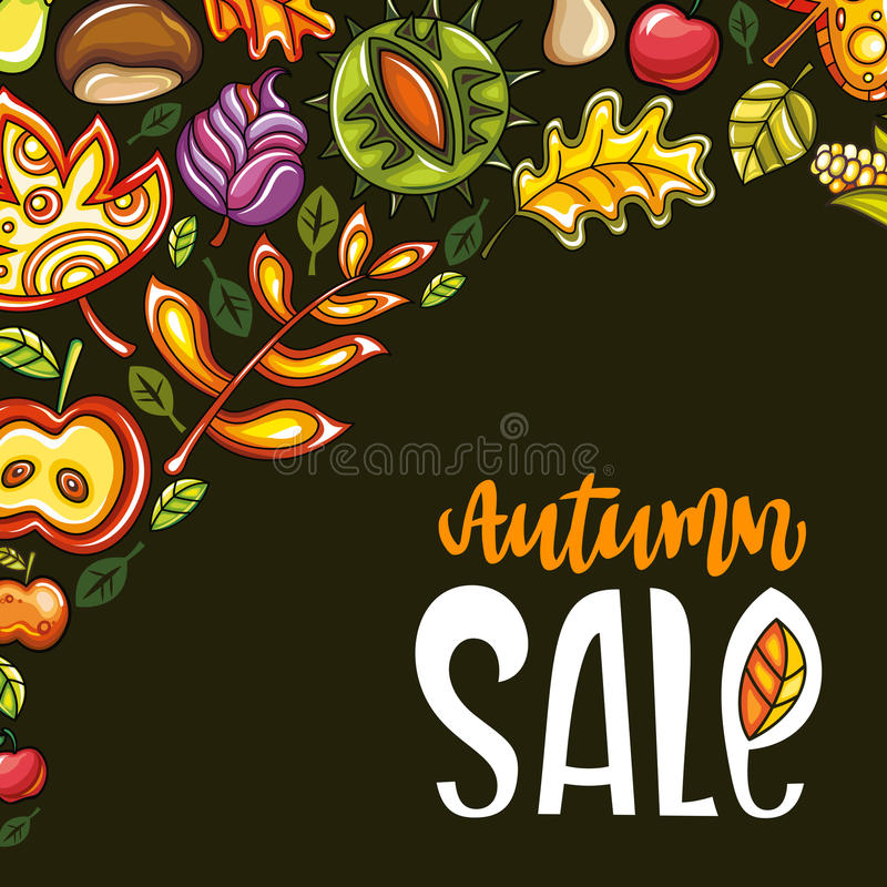 Autumn sale series royalty free illustration