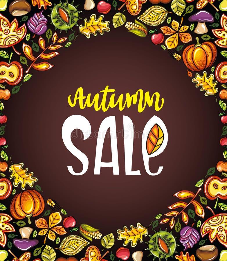 Autumn sale series stock illustration