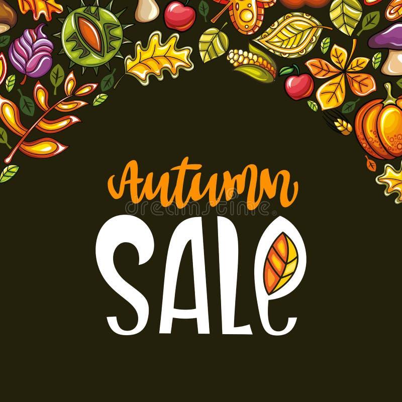 Autumn sale series vector illustration