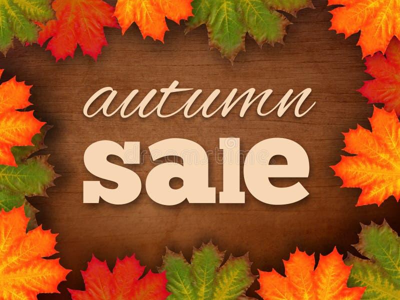 Autumn Sale Sign fotos de archivo libres de regalías