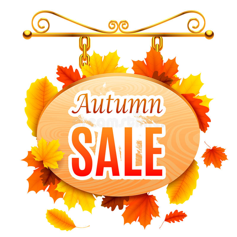 Autumn Sale Signboard stock abbildung