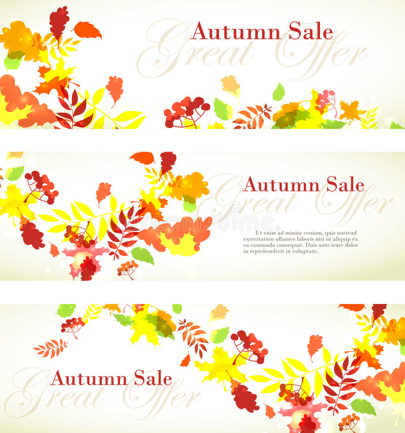 Autumn sale template square frame with fall bright leaves: oak,. Vector illustration Autumn sale template square frame with fall bright leaves: oak, maple, birch vector illustration
