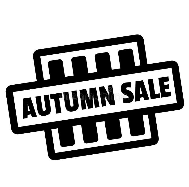 Autumn Sale-zegel op wit vector illustratie