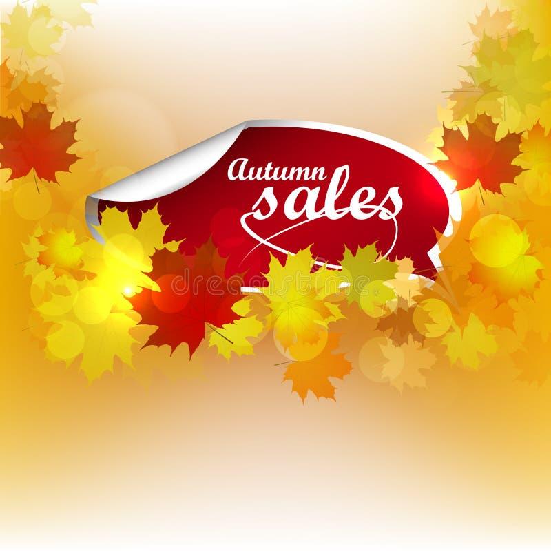 Autumn Sales Background ilustración del vector