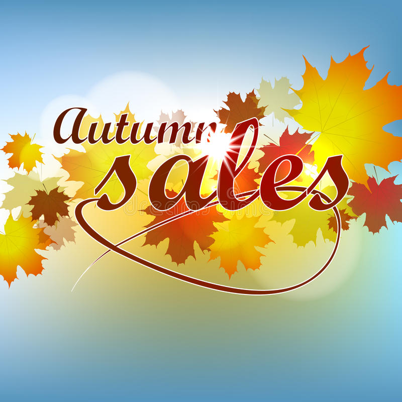 Autumn Sales Background libre illustration
