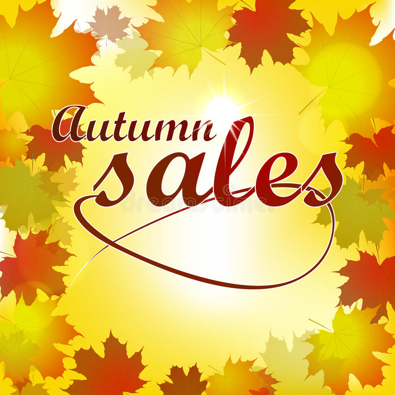 Autumn Sales Background stock de ilustración