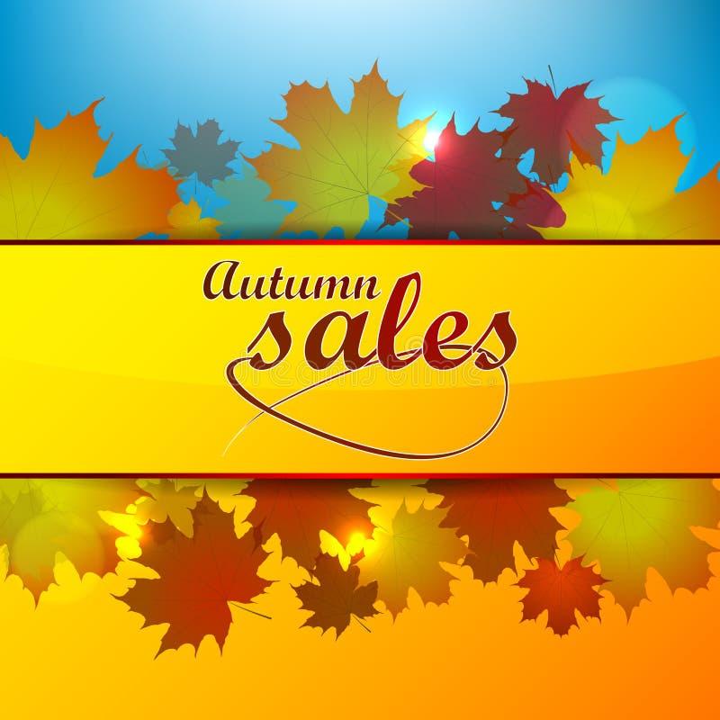 Autumn Sales Background stock de ilustración
