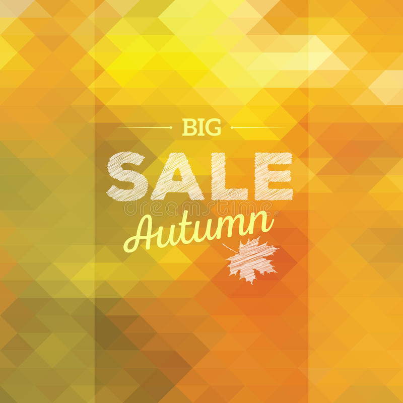Autumn Sales Background vector illustratie