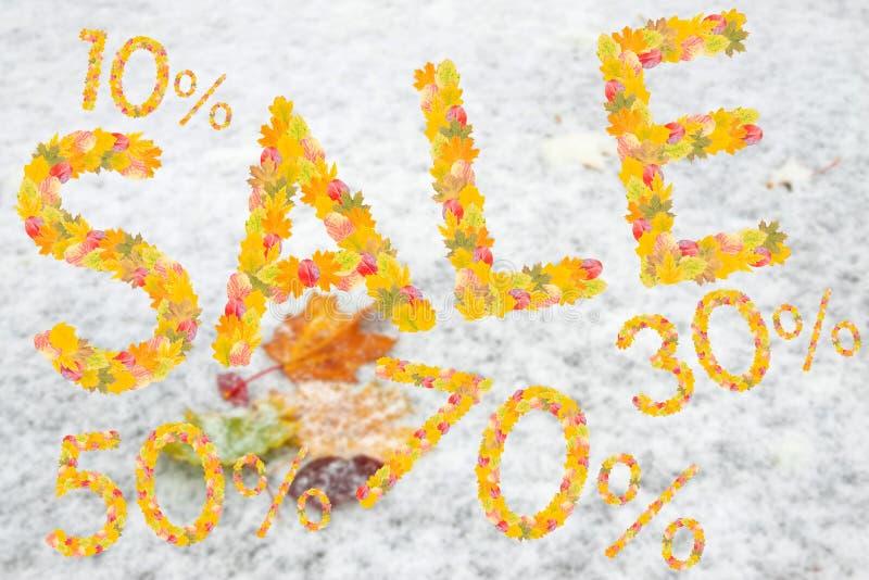 Download Autumn Sales Background arkivfoto. Bild av lönn, symbol - 76700192