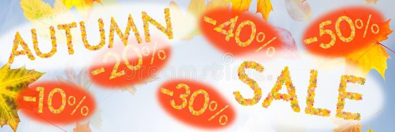 Download Autumn Sales Background fotografering för bildbyråer. Bild av säsong - 76700237