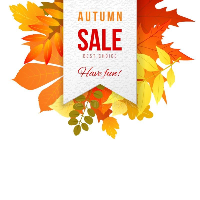Autumn Sales Banner stock illustratie