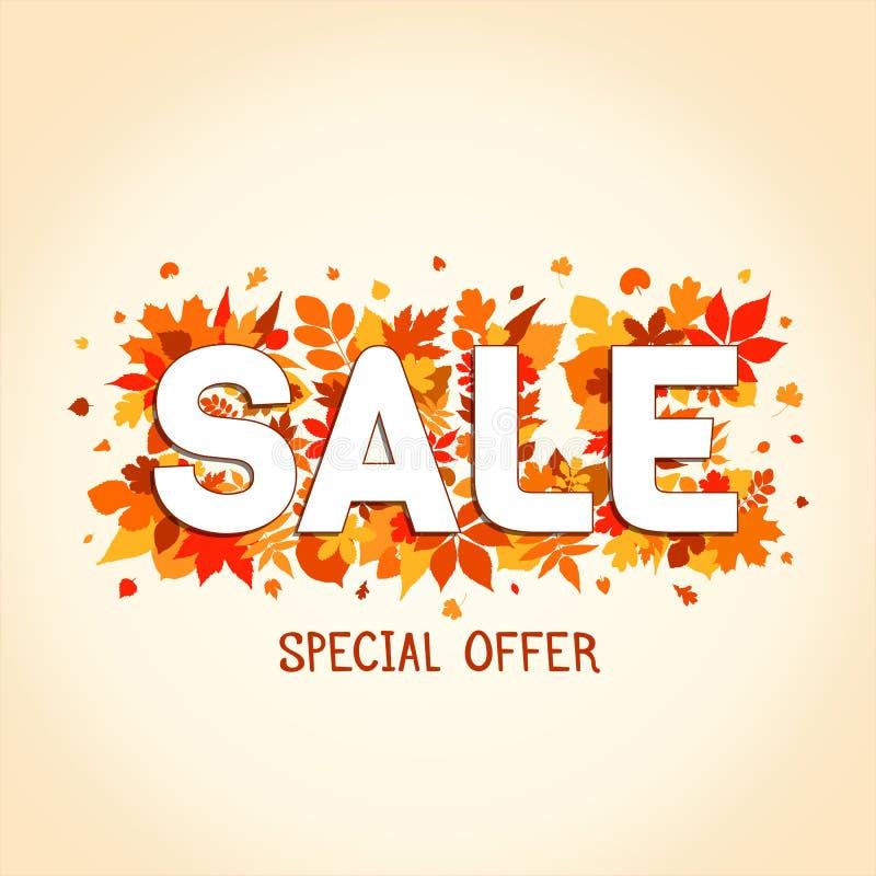 Autumn Sales Banner stock illustration