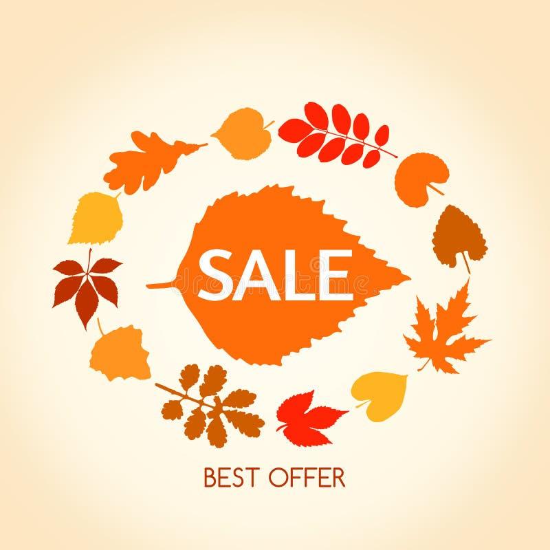 Autumn sales banner royalty free illustration