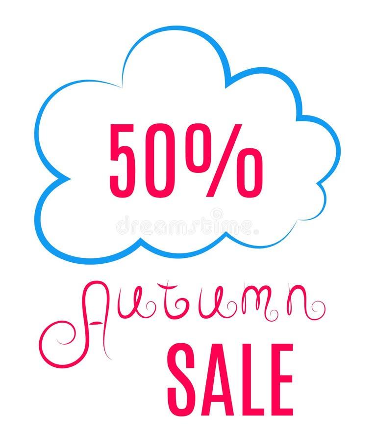Autumn Sales Icon stock illustratie