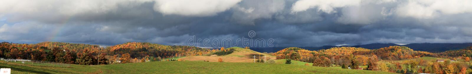 Autumn scene with 3 crosses royalty free stock images