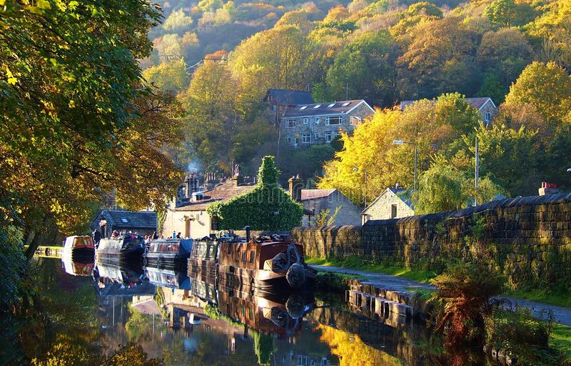 Autumn Scene in Nord-England lizenzfreie stockfotos