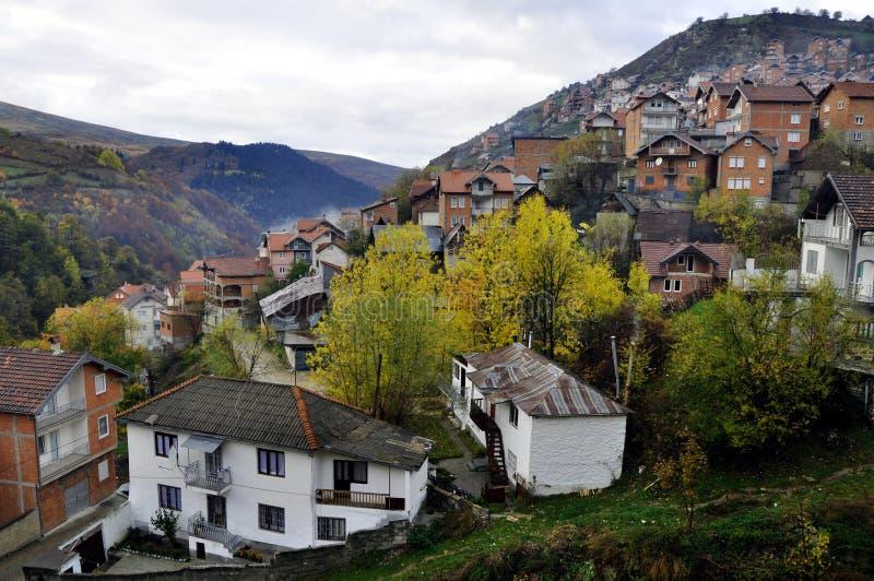Autumn scene. Restelica village, Kosovo stock photos