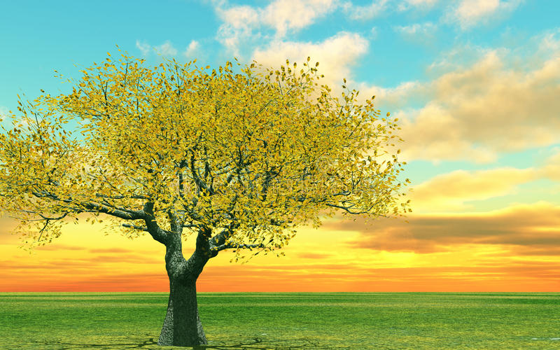 Download Autumn scenery stock illustration. Image of background - 12106705