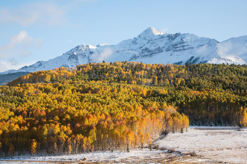 Autumn Scenery in the Rocky Mountains of Colorado. stock image