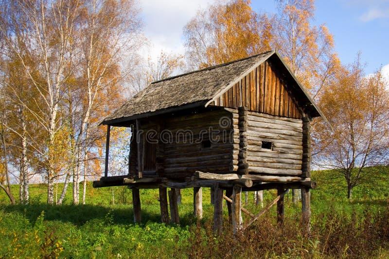 Autumn Scenery - Wooden Houses Stock Image