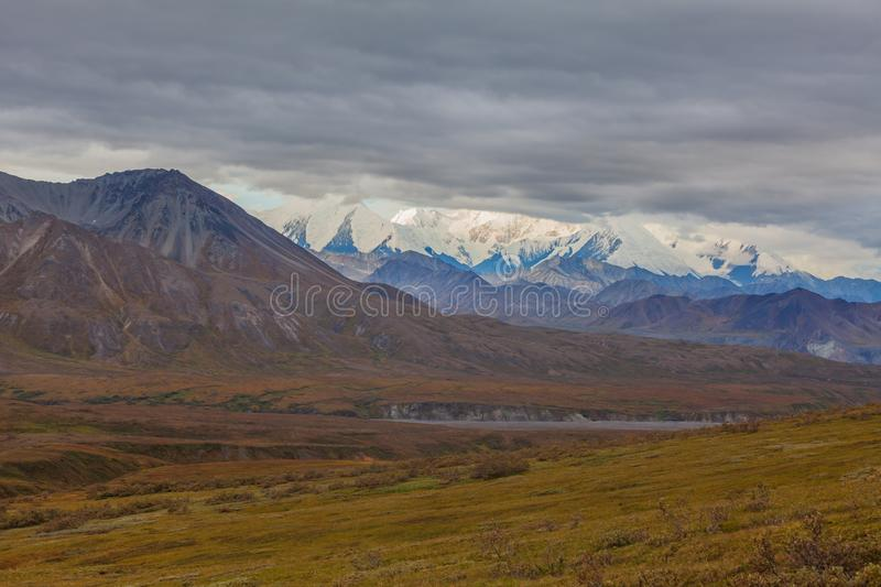 Autumn Scenic in Nationalpark Alaska Denali stockfoto
