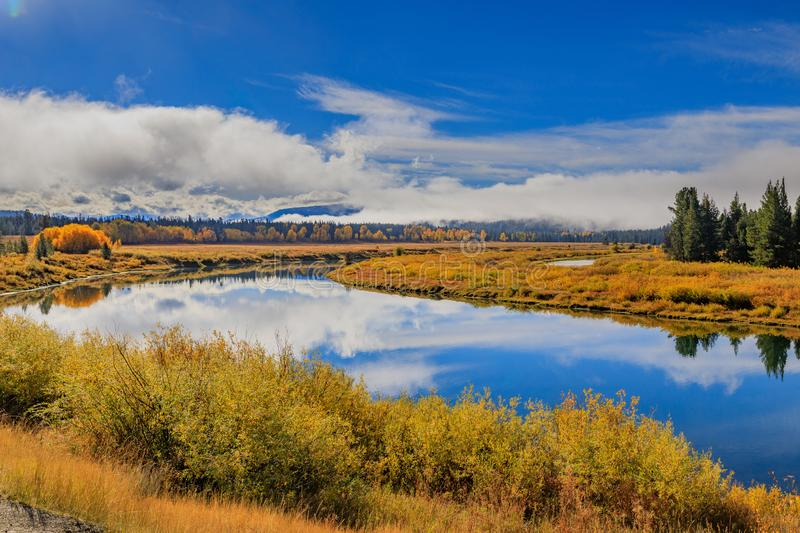 Autumn Scenic in the Tetons stock photography