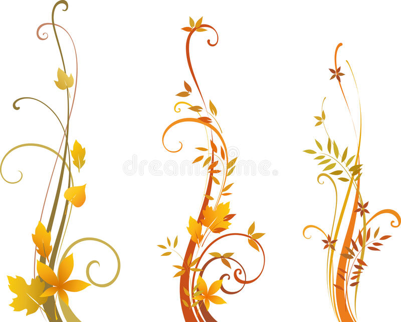 Autumn Scroll Design vector illustratie