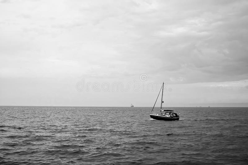 Download In autumn the sea. stock photo. Image of baltic, white - 17156854