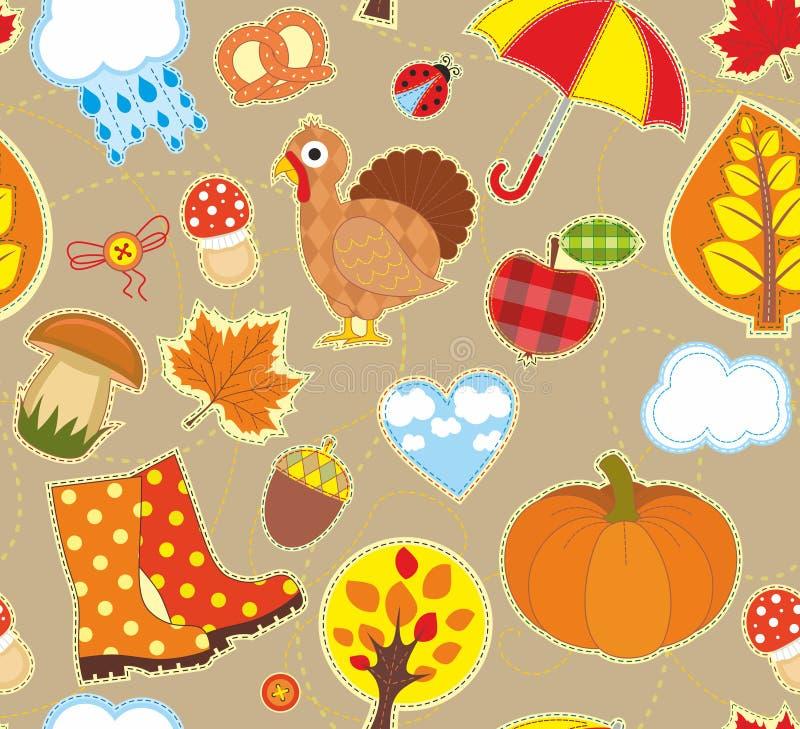 Autumn Seamless Background stock abbildung
